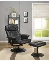 bargains on kings brand dark brown massage recliner swivel chair