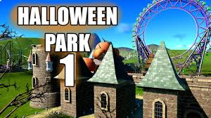 planet coaster halloween park part 1 youtube