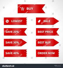 ribbon sale color vector template stock vector 145975652