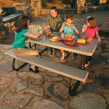 Lifetime Folding Picnic Table Instructions by Lifetime 6 U0027 Folding Picnic Table Putty Sam U0027s Club