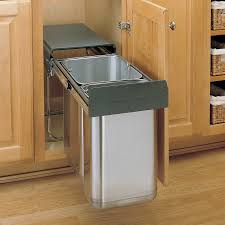 picturesque stainless steel pull out waste bins stainless steel