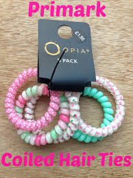 primark hair accessories primark coiled hair ties mammaful zo beauty fashion lifestyle
