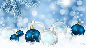 Blue Snowflakes Decorations Winter Snowflakes Fir Snow Bright Spruce Bokeh Christmas Shine