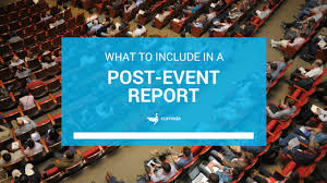post event report template template what to include in a post event report currinda
