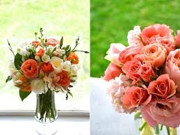 coral flower arrangements calie rose