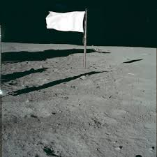 Blue And White Flag With Red C Faded Flags On The Moon Daily Planet Air U0026 Space Magazine
