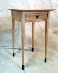 shaker style side table shaker style sugar maple side table with walnut accents custom