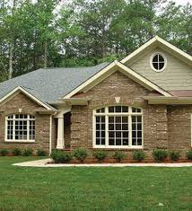 One Story Brick House Exterior Designs Best Home Design And One - New brick home designs
