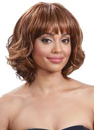 midway to short haircut styles midway bobbi boss m271 tiana short wavy synthetic wig w bangs