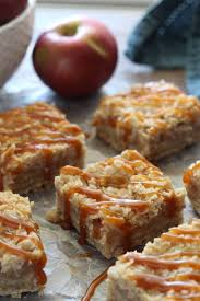 caramel apple crumb bars chocolate with grace