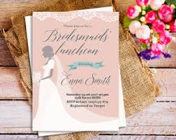 bridesmaid lunch invitations bridal luncheon invitation kawaiitheo