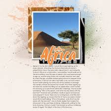 travel photo albums travel scrapbooking an africa study abroad album part 1