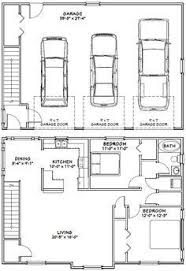 house plans with apartment attached garage apartment plan 30030 total living area 687 sq ft 1