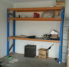 Free Standing Garage Shelves Plans by Wall Shelves Design Heavy Duty Wall Mounted Garage Shelving Wire
