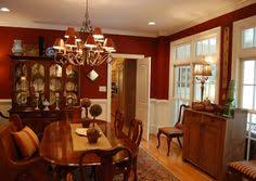 we love the warm colors in this dining room allen roth