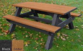 recycled plastic picnic tables bistro recycled plastic picnic table pro playgrounds the play