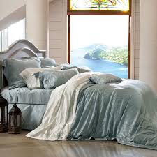 Queen Shabby Chic Bedding by Sky Blue Solid Color Simply Shabby Chic Coastal Living Theme Style