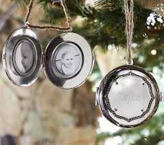 silver locket ornament pottery barn kids