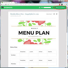 Templates Evernote by Menu Planning With Evernote Templates My Happily Hectic