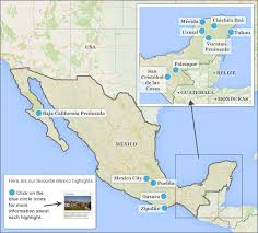 map of mexico and california mexico highlights itineraries responsible travel guide to