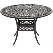 Aluminum Patio Furniture Set - rosedown 5 piece cast aluminum patio dining set with round table