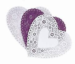 heart shaped doilies heart shaped doilies white pink hearts 152mm wide