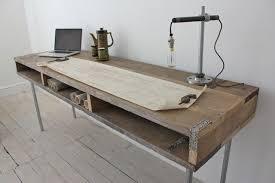 extra long desk table scaffleboard rustic desk urban loft industrial style home sweet
