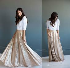 ruffled champagne sequins maxi dresses gorgeous a line long skirt