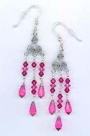 Pink Chandelier Earrings Viewing Pretty Pink Chandelier Earrings 1 Left