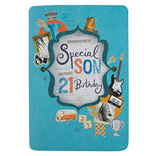 hallmark 21st birthday card for son u0027pride and love u0027 medium