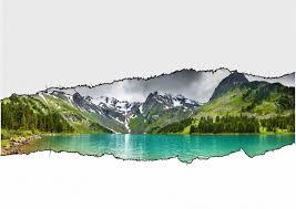 stickers livres trompe l oeil sticker trompe l u0027oeil paysage des alpes