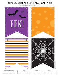 halloween bunting banner life made simple