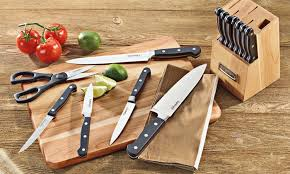 cuisinart kitchen knives cuisinart 14 black cutlery set and block groupon