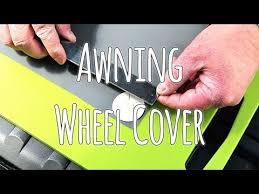 Caravan Awning Rail Protector Fitting A Caravan Wheel Arch Cover For Awning Youtube