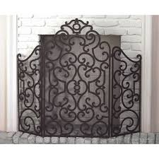 stained gold iron scroll design fireplace screen dr livingstone i