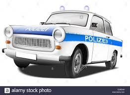 trabant trabant 601 as a police car illustration stock photo royalty