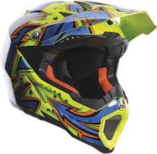 yellow motocross helmet agv ax 8 evo spray offroad motorcycle helmet yellow blue orange