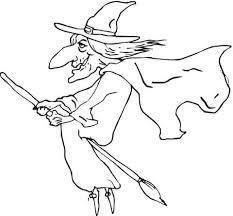 ugly witch coloring free printable coloring pages