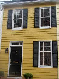 Gray Siding White Trim Black by Dark Mustard Yellow Darker Than This White Trim Black Doors