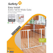 Extra Wide Pressure Mounted Baby Gate Easy Install Tall U0026 Wide Gate White