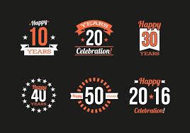 design a vintage logo free anniversary vintage logos vector download free vector art stock