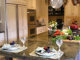 double oven green granite undercabinet light kitchen recessed