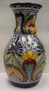 Mexican Vase Mexican Talavera Pottery At Mexican Beauty Gift Shop Fine