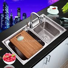 Kitchen Sinks - Brushed stainless steel kitchen sinks