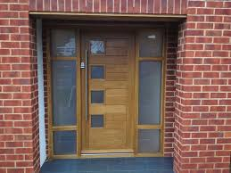 frosted glass front doors exteriors creative brown textured wood with frosted glass