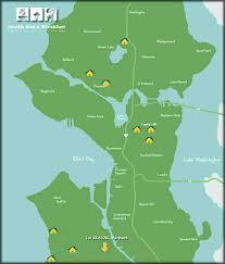 seattle map by district seattle bed breakfast association neighborhood inns