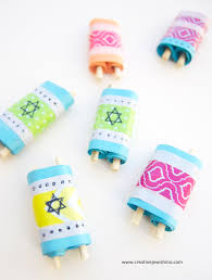 mini torah scrolls craft for simchat torah creative jewish mom