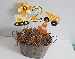 Construction Party Centerpieces by Construction Centerpieces Dump Truck Centerpieces