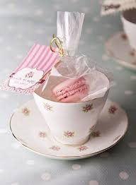tea cup favors tea and macarons party favor idea tea party