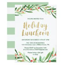 christmas lunch invitation christmas luncheon invitations announcements zazzle
